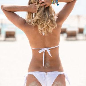 Weißer sexy Triangel Bikini - DESPI