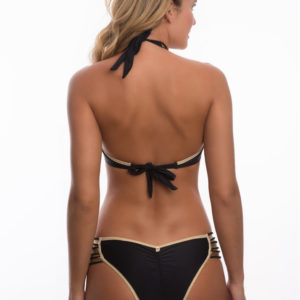 Schwarz goldener Bikini mit Multischnüren SEXY - Despi