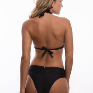 Schwarzer Triangel Bikini in Foulardform - DESPI