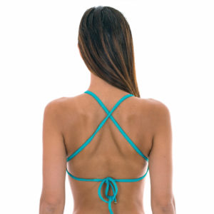Geblümtes Bade Bikini-Top mit Kreuzträgern - Soutien Bloom Cropped
