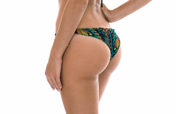 Knappes Buntgemusterte Bikinihose mit seitliche Ringe - Rio de Sol