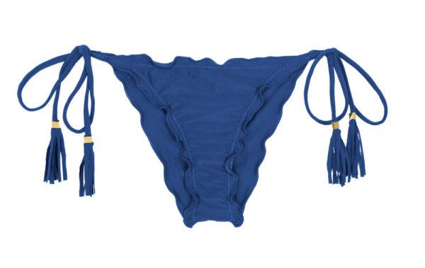 Jeans blaue Scrunch Bikinihose mit Fransen - Rio de Sol