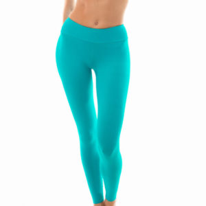 Uni türkisfarbene Fitness Leggings - Leg Nz Nannai