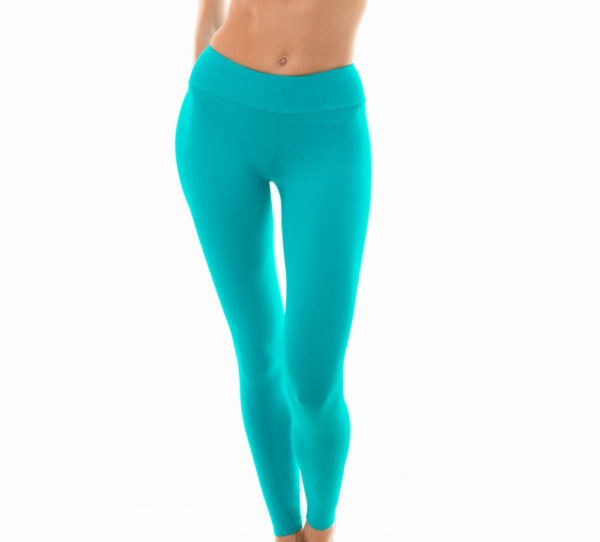 Uni türkisfarbene Fitness Leggings - Leg Nz Nannai