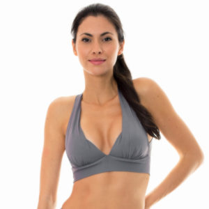 Fitness-Top, grau, Sport-BH Stil, Kreuzträger - Nz Gris Top Fitness