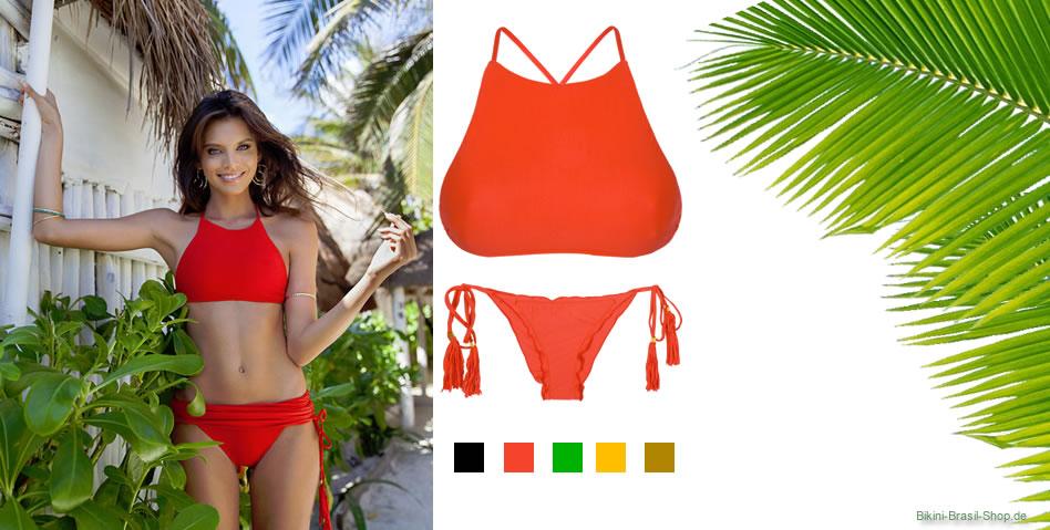 Einfarbige Bikiniteile zum kombinieren auf Bikini-Brasil-Shop.de