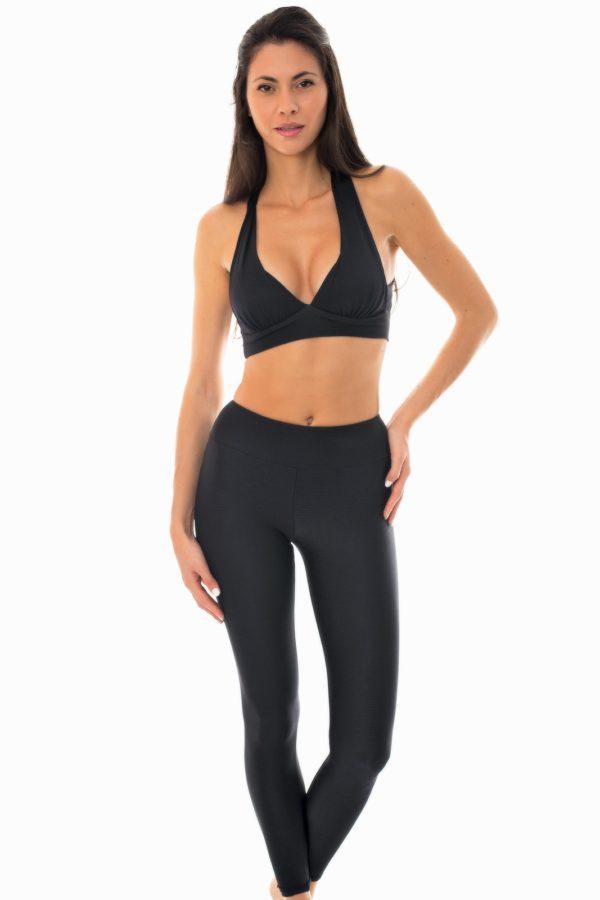 Schwarze Fitness Leggings und Top - Rio de Sol