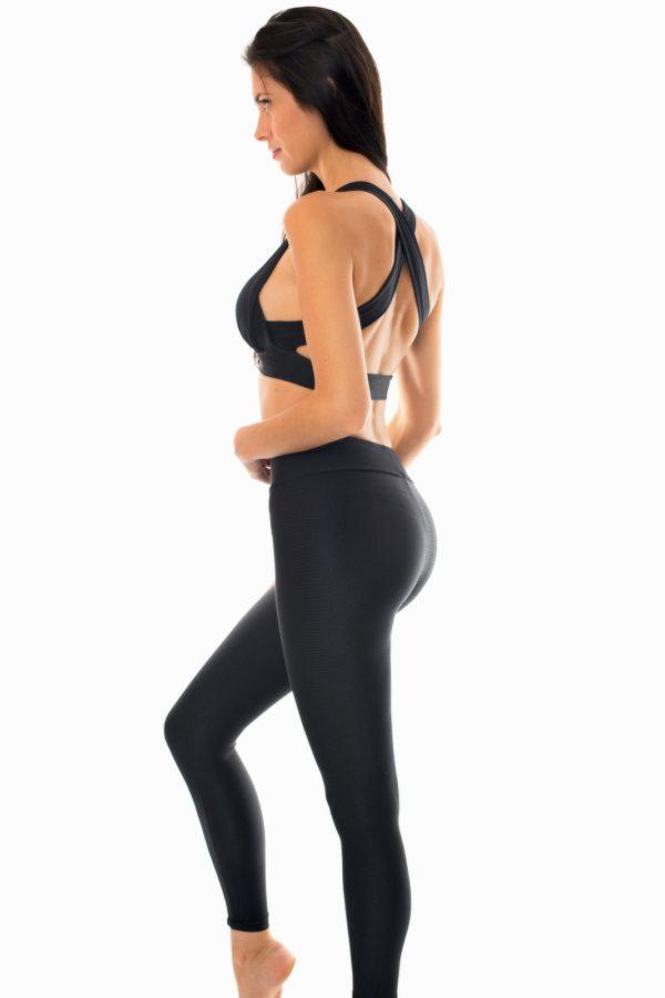 Schwarze Fitness Leggings und Bikini-Top - Rio de Sol