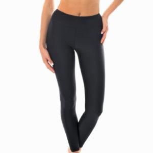 Schwarz-texturierte Fitness Leggings - Leg Duna Black