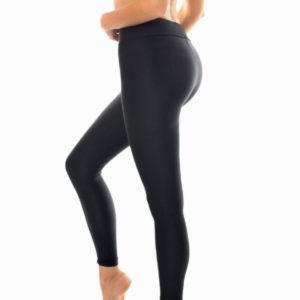 Schwarz-texturierte Fitness Leggings - Rio de Sol