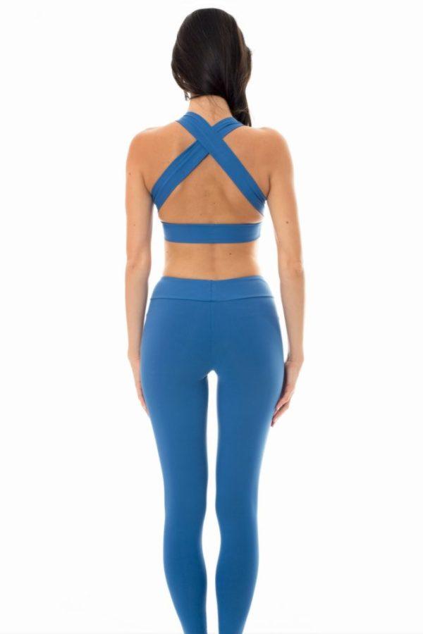Blaue Fitness Legging - Rio de Sol