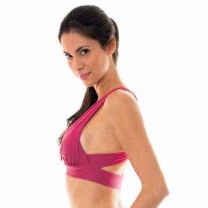 Fitness Top, Sport BH, Kreuzträger, dunkelrosa - Rio de Sol
