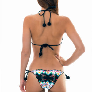 Bunter Scrunch Bikini mit Pompons und Musterung - Sexy Bikini von DESPI