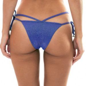 Dunkelblaue Strappy Lurex Sexy Bikinihose