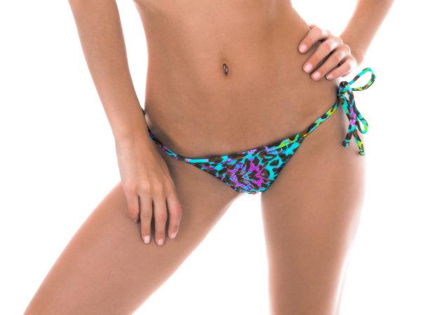 Mikro Bikinistring mit Leopardenmuster
