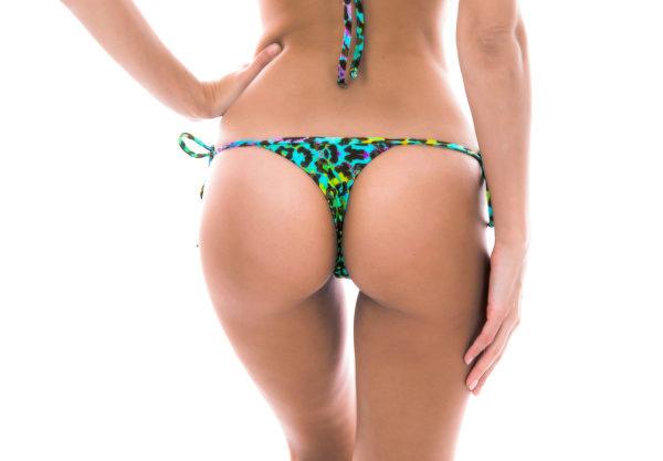 Sexy Mikro Bikinistring mit Leopardenmuster