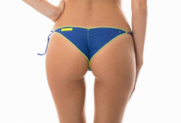 Denim Scrunch Bikinihose, neonfarbene Kontur - Sexy Denim