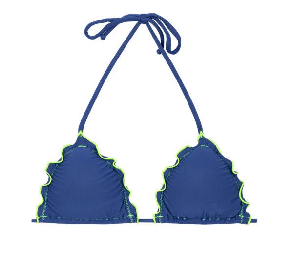 Denim Triangel Oberteil, neonfarbene Konturen - Bikinishop