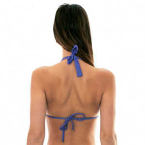 Glänzend blaues Multipositions Lurex Bikini-Top