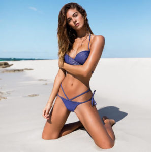 Marinho - Blau-glänzende Damen Bademotde, Bikiniteile, Badeanzüge, Monokini