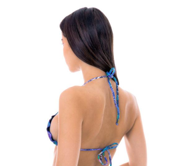 Pfauenblaues Triangel-Top mit gewellte Rändern - Sexy Top