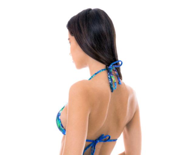 Verstellbares Bikini Triangel Top mit Pfauenaugenmotiv - Sexy Bikinitop