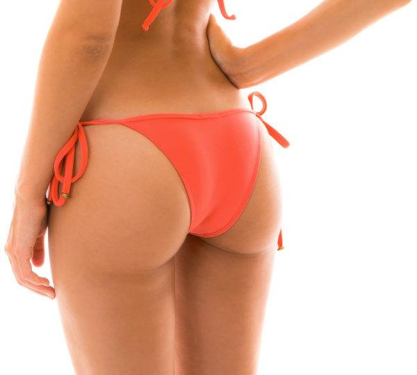 Lachsfarbener sexy Bikinislip - seitliche Schnüre