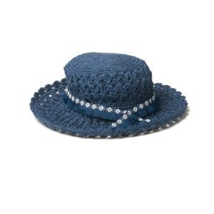Navy Sonnenhut gehäckelt - Navy Crochet Hat