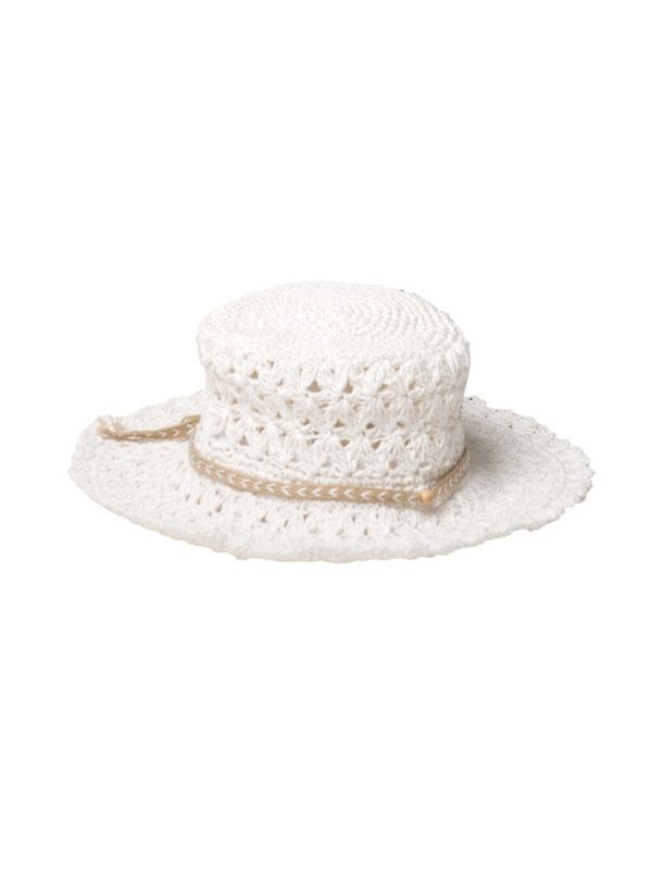 Weißer Sonnenhut gehäckelt - White Crochet Hat