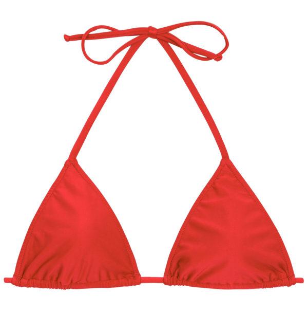 Rotes verstellbares Triangel Bikinioberteil - Rio de Sol