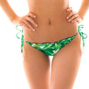 Scrunch Bikiniunterteil mit Blättermuster - Bottom Folhagem Frufru