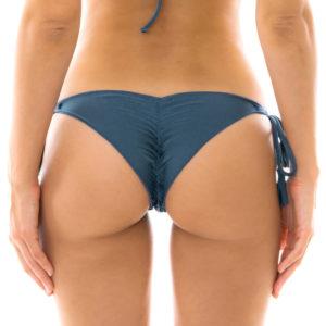 Sexy Scrunch Bikini-Tanga Schieferblau