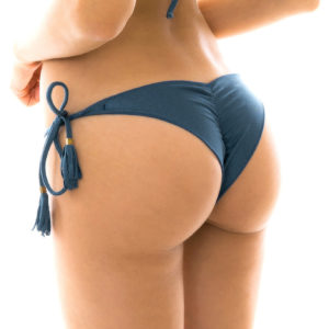 Scrunch Bikini-Tanga Schieferblau -Rio de Sol