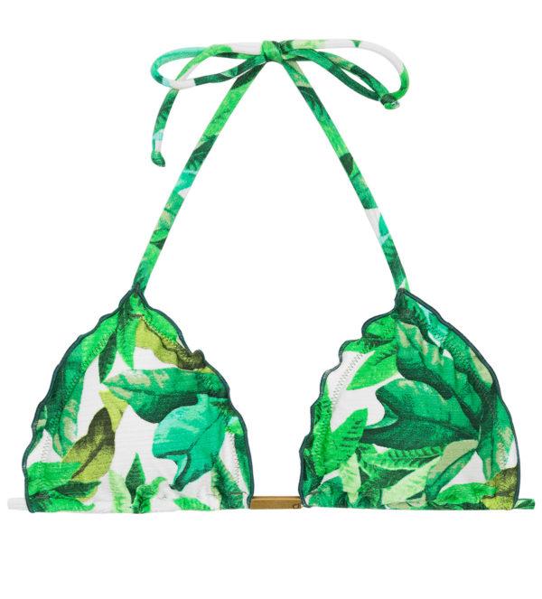 Grünes Bikinitop mit Blättermuster - Rio de Sol