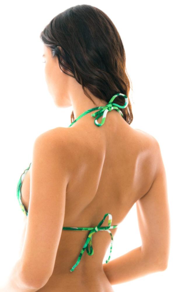 Grünes sexy Bikinitop mit Blättermuster