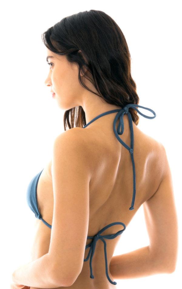 Blaues sexy Triangel Top mit Riemchen