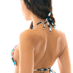 Sexy Bikinitop Triangelform bunt kariert