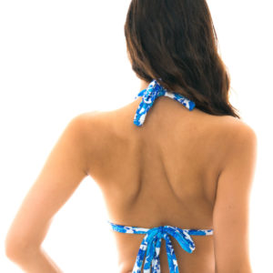 Triangle Bikini-Top blaues Blumenmotiv - Rio de Sol