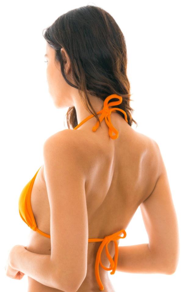 Sexy orangefarbenes Triangle-Top verschiebbar