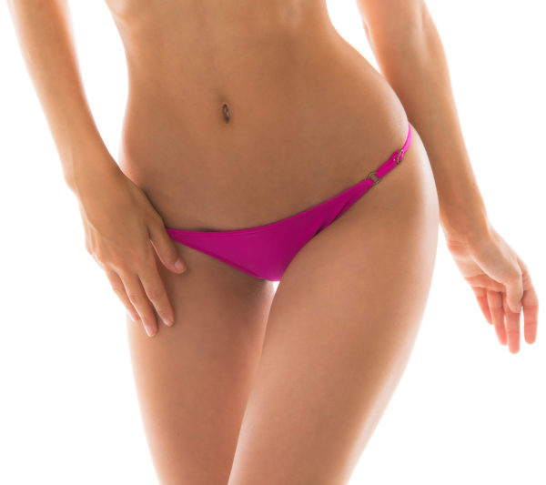 Fuchsienrosa verstellbare Bikinihose - Bottom Amaranto Arg Fixo