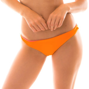 Orange-Rosa Wendebikini Höschen - Bottom Duo Orange
