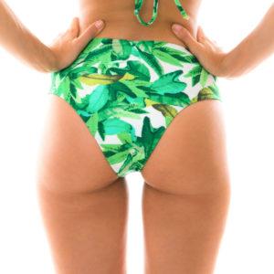 Bikinihöschen mit Musterung und hohem Bund