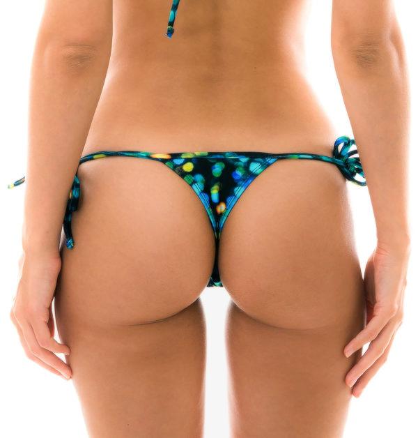 Sexy Bikini String schwarz gemustert