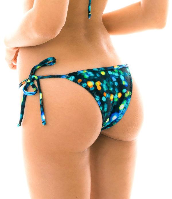 Schwarz-blau gemusterte sexy Bikinihose