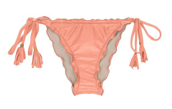 Scrunch Bikini Hose Rose mit Pompons - Rio de Sol