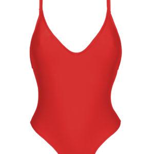 Roter Badeanzug mit hohem Beinausschnitt - Rio de Sol