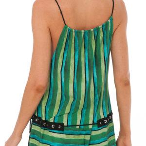 Brasilianisches Strandkleid grün-schwarz - Despi