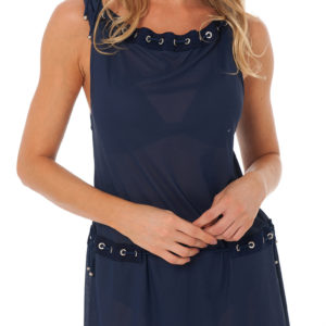Dunkelblaues Strandkleid Despi - Eyelet Tunic Navy