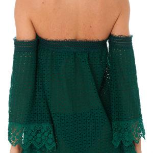 Schulterfreies grünes Strandkleid - DESPI