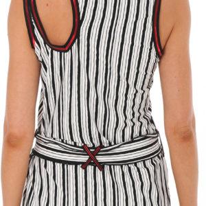 Gestreiftes Strandkleid mit glänzendem Rand - Pop Art Tunic No Parallel